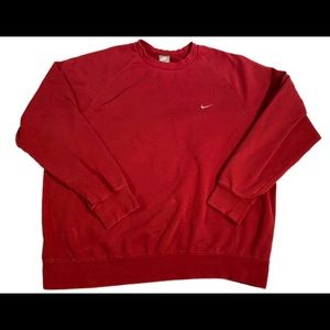 Nike vintage crew neck sweater size Xl red/Maroon